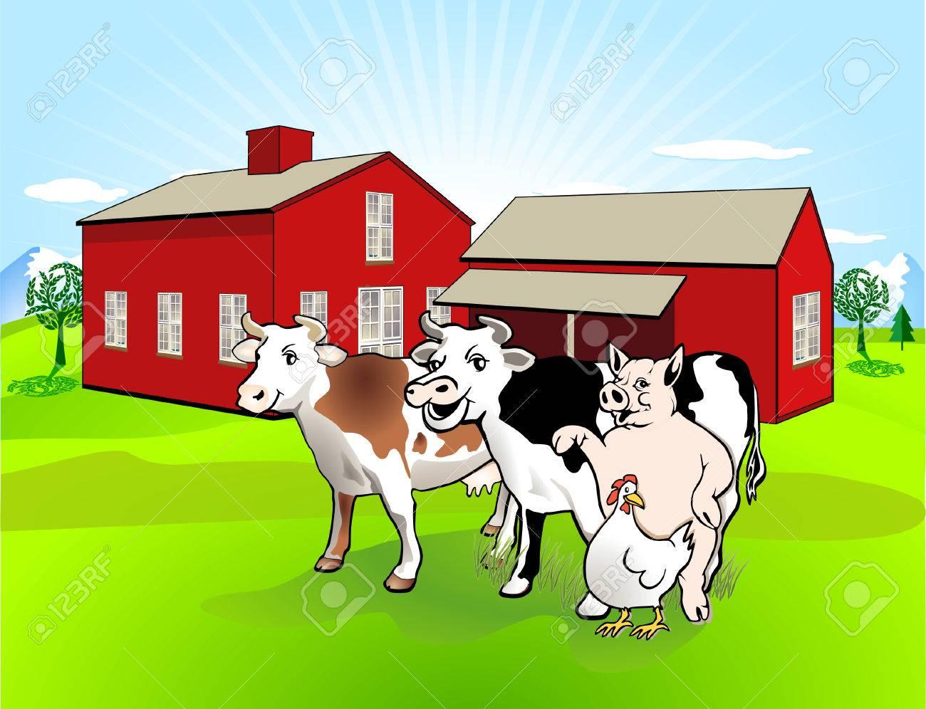 Farm-house Stock Vector - 8171490