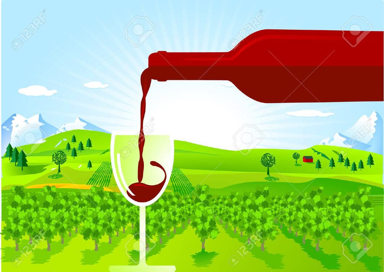 wine-growing Stock Vector - 8171494