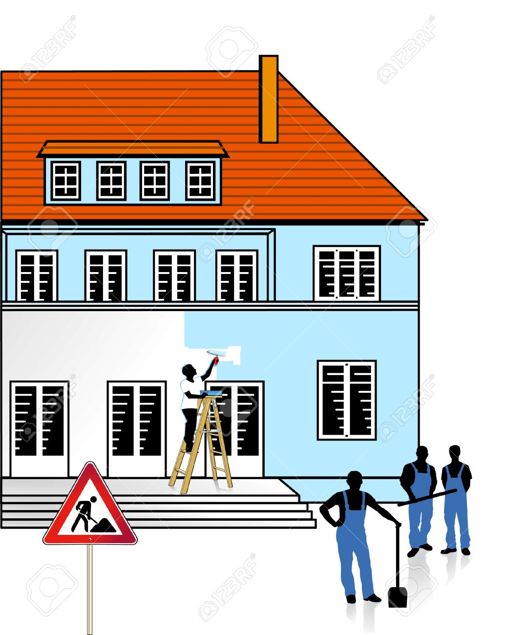 to renovate a building Stock Vector - 8380743
