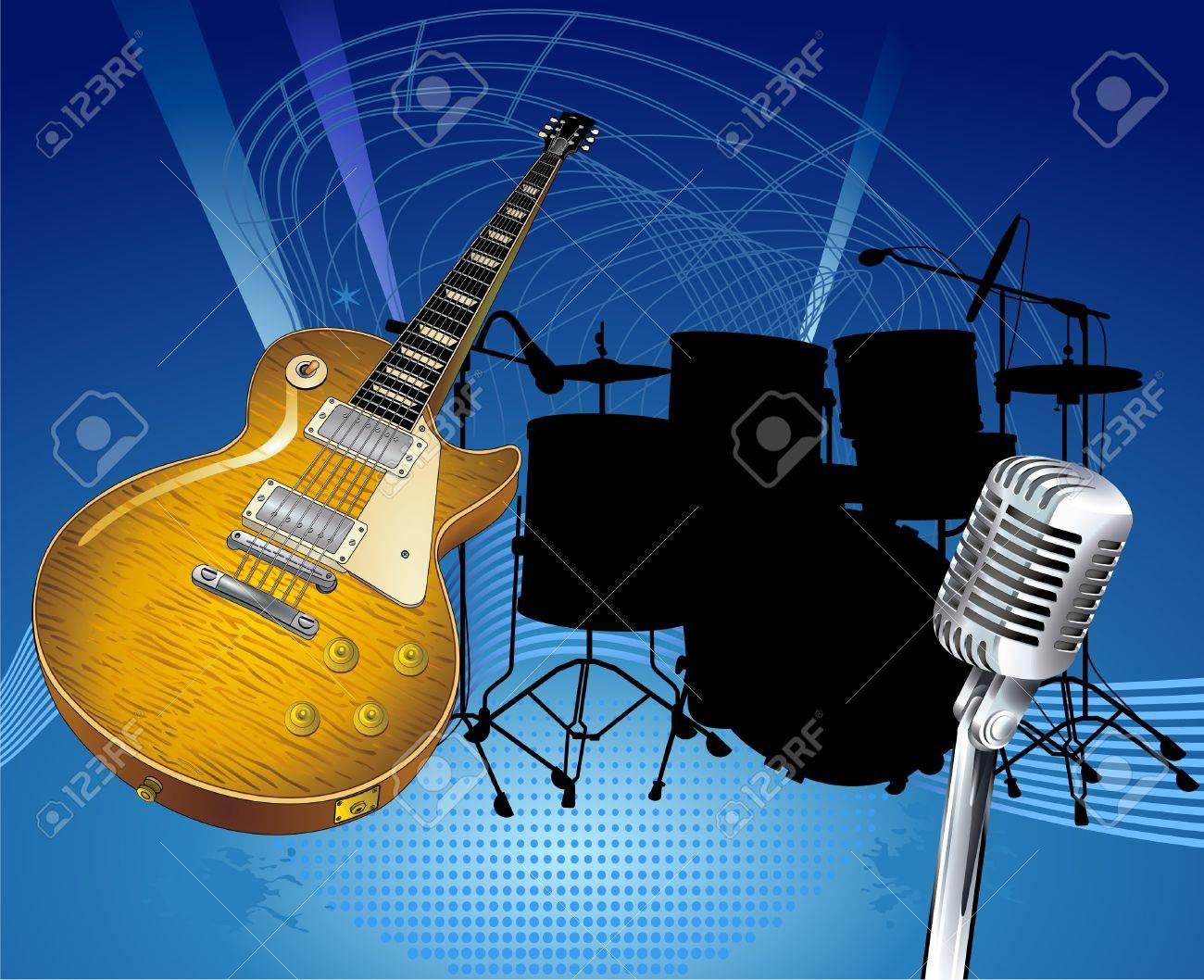 Rock Music Stock Vector - 9896976