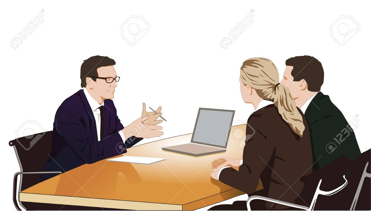 Consultation and discussion Stock Vector - 11485619