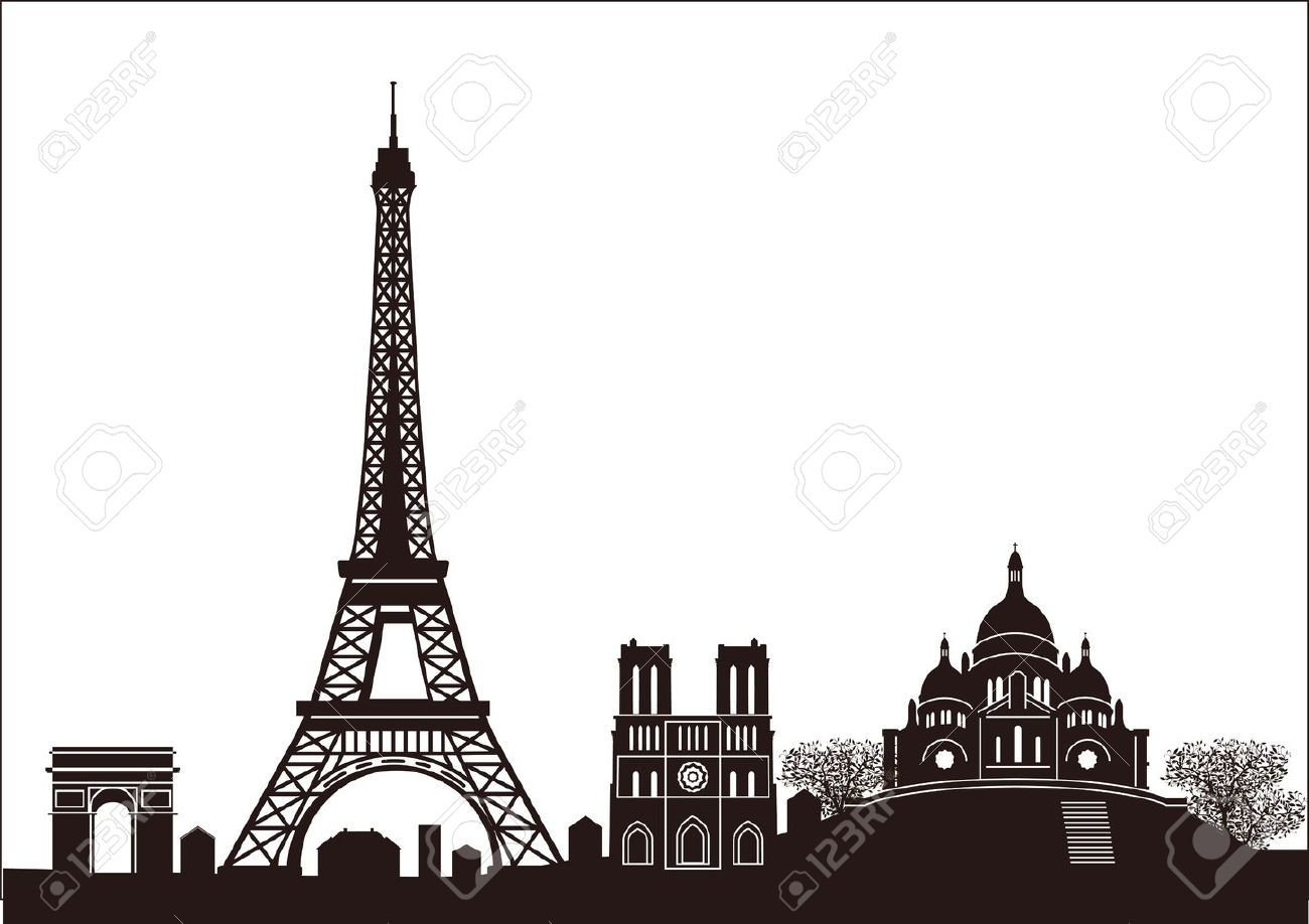 paris skyline royalty free cliparts, vectors, and stock illustration. image  11485623.  123rf