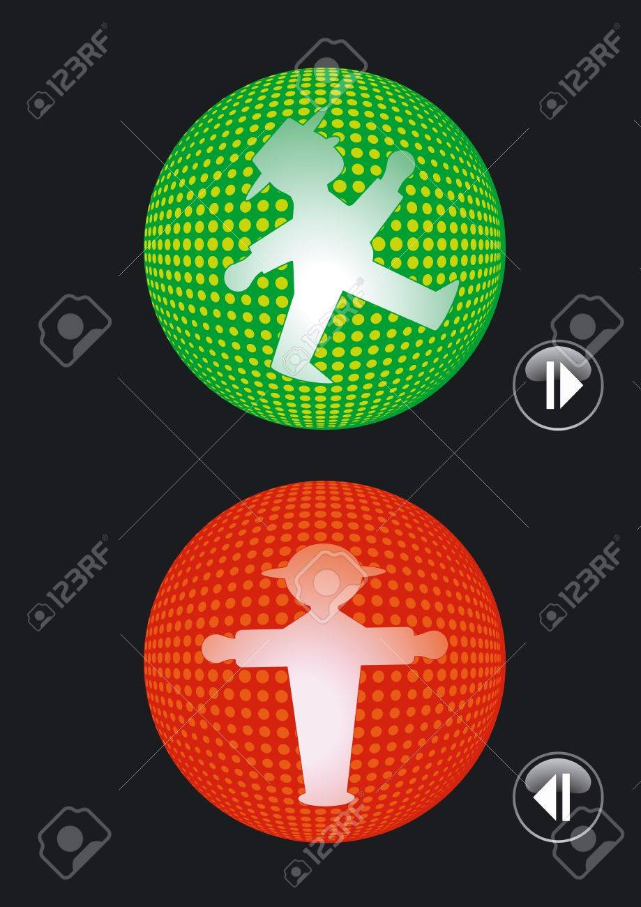 Traffic lights go and stop Stock Vector - 12492368