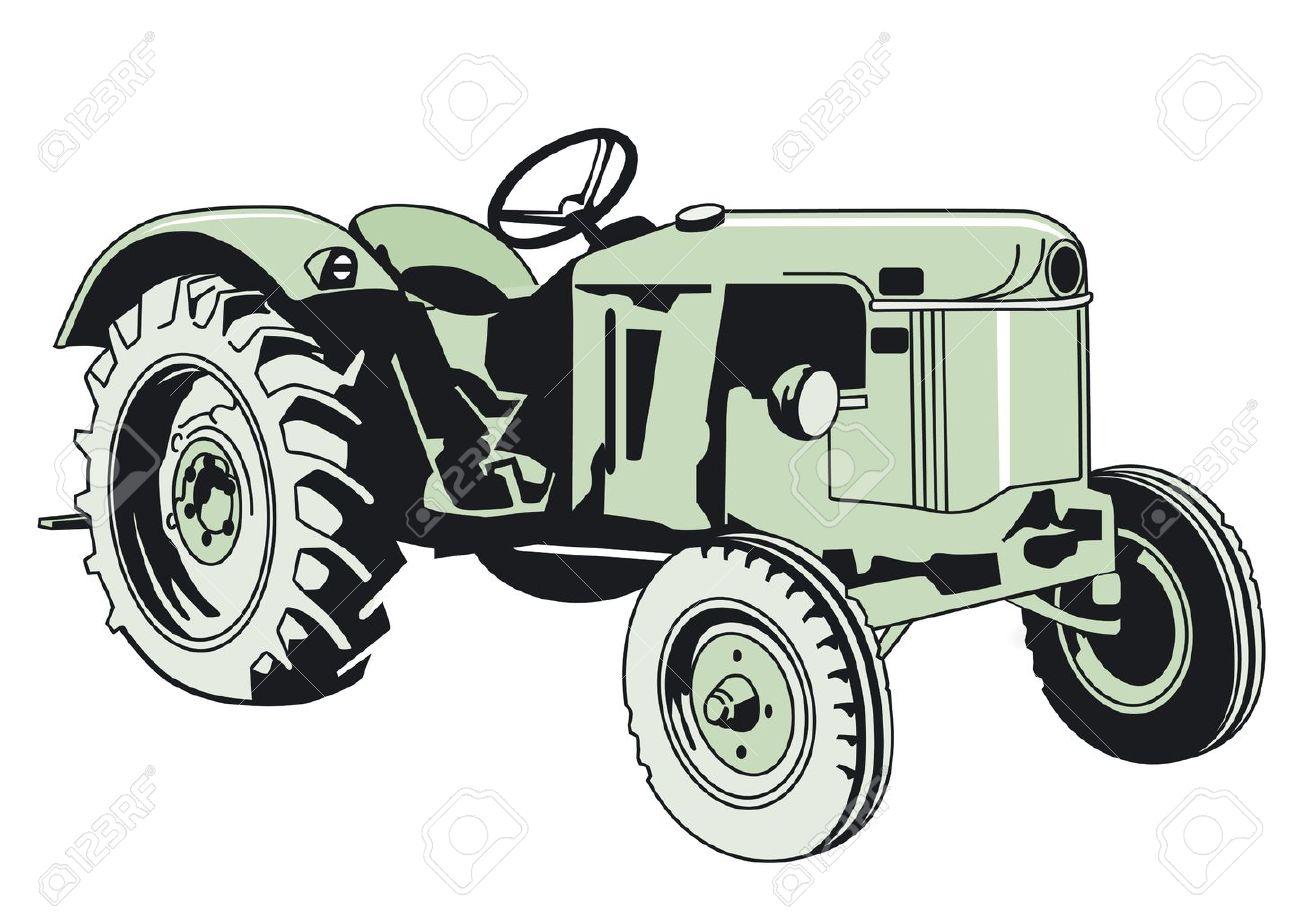 older Tracktor Stock Vector - 14188185