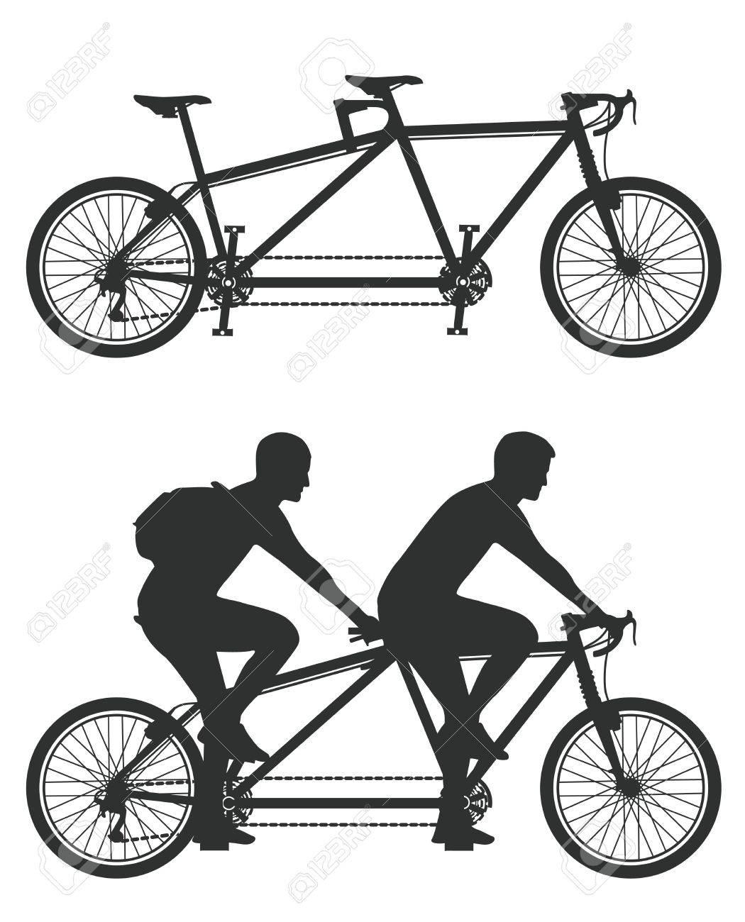 Tandem cyclist Stock Vector - 14718952