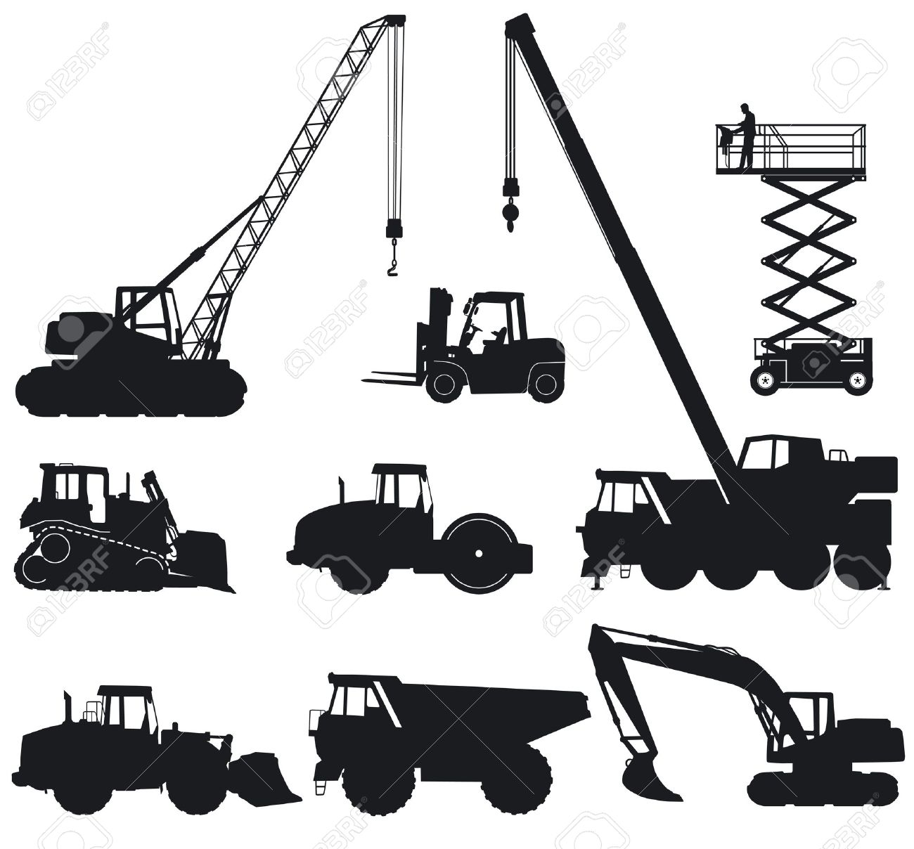 Construction machinery Stock Vector - 14970189