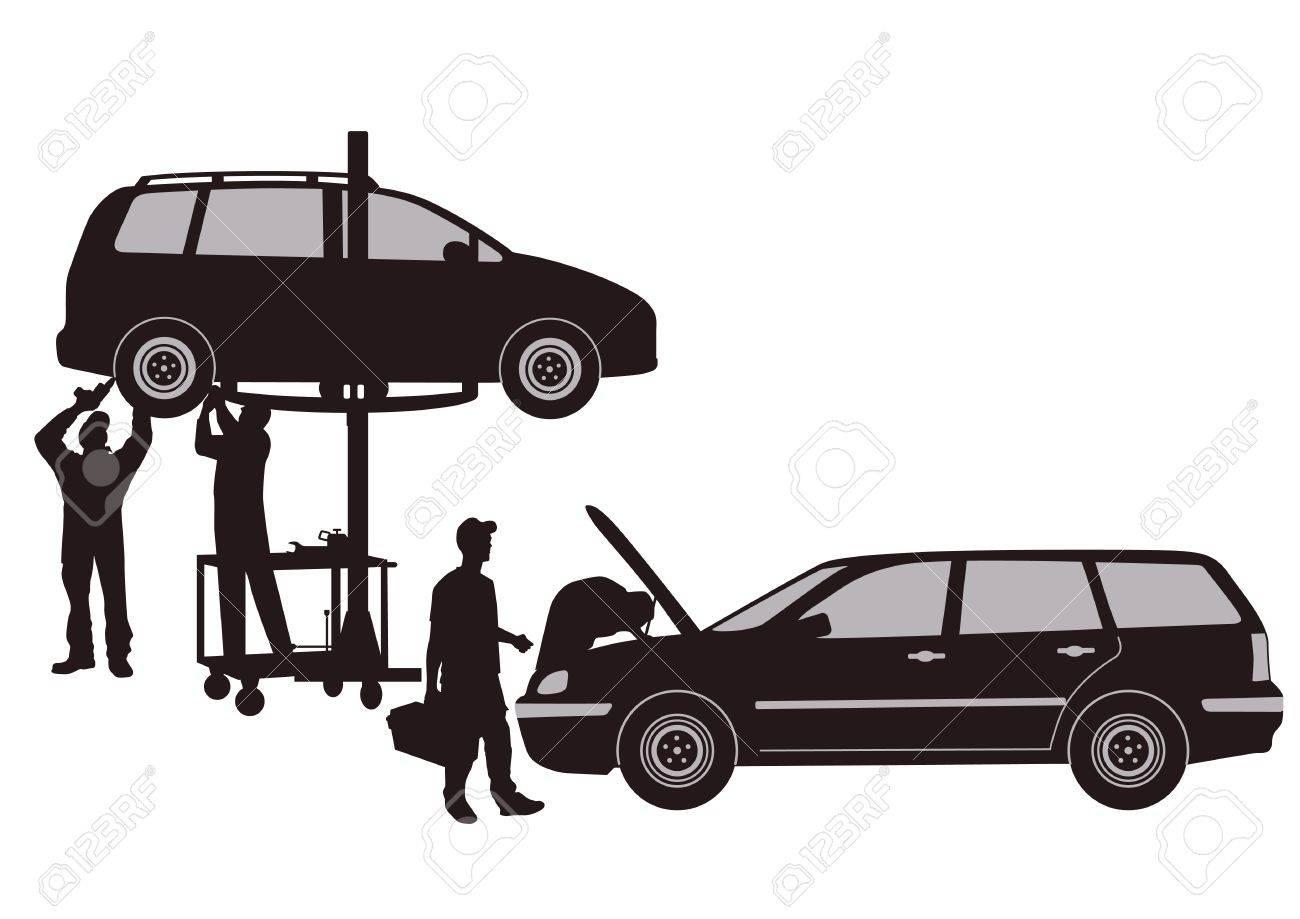 car workshop Stock Vector - 15776081