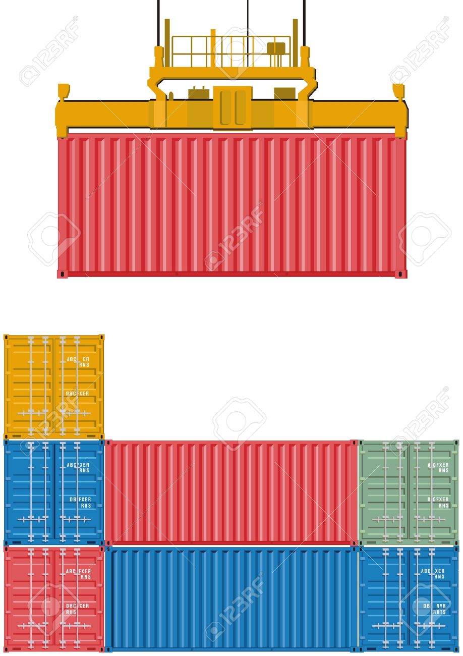 Container loading Stock Vector - 15996081