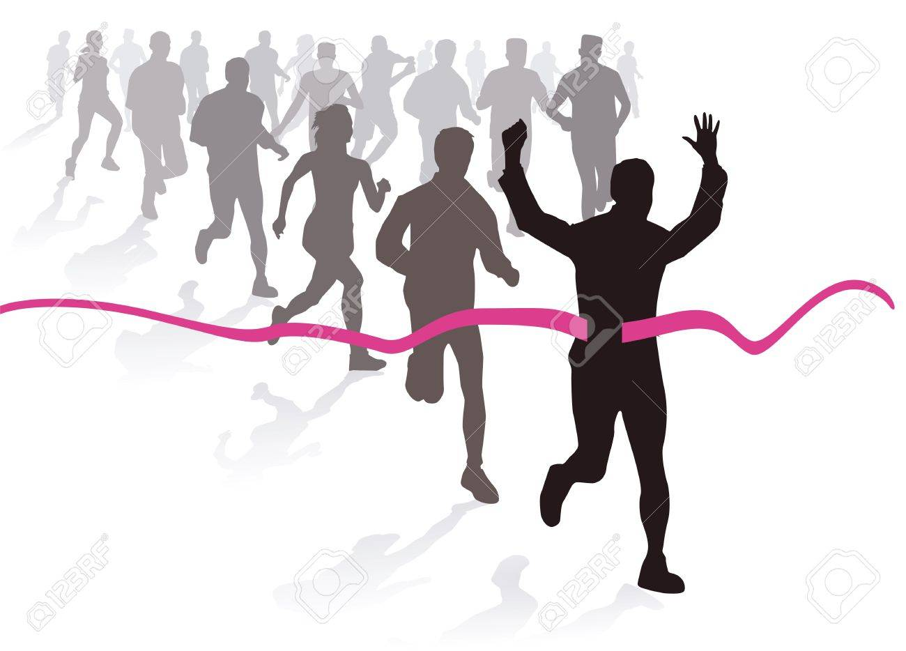 Marathon run Stock Vector - 16077122