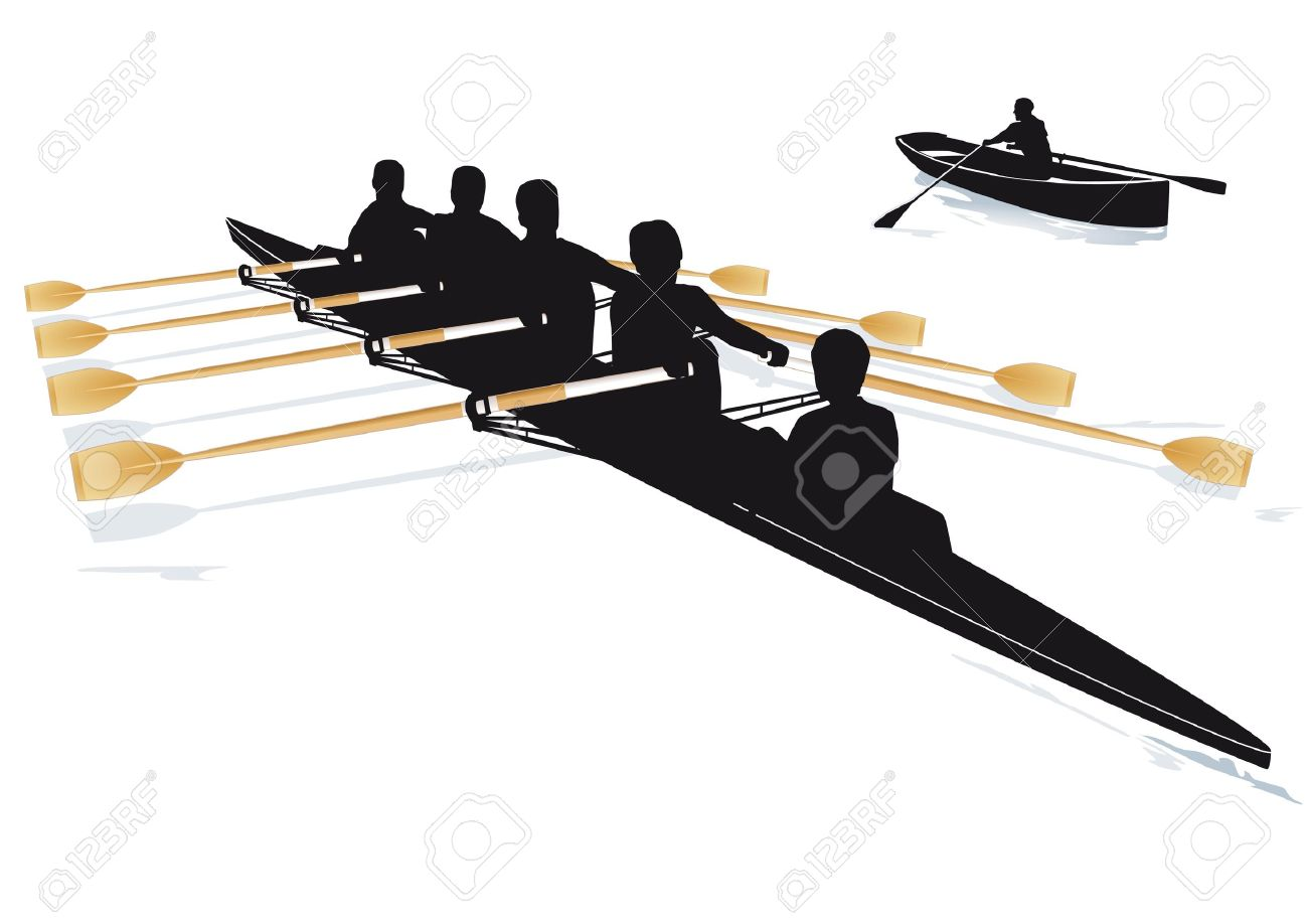Team Rowing Clipart Rowing Boat Team