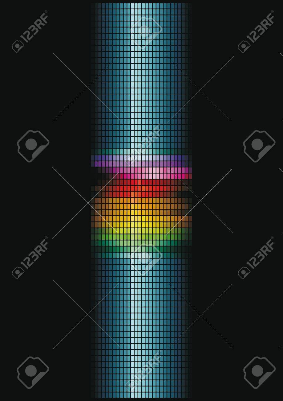 dynamic light column Stock Vector - 18385812