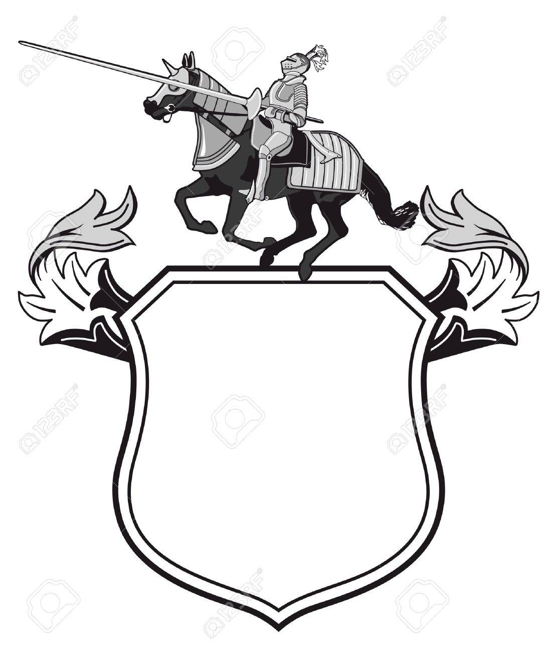 Knights tournament crest Stock Vector - 18555715