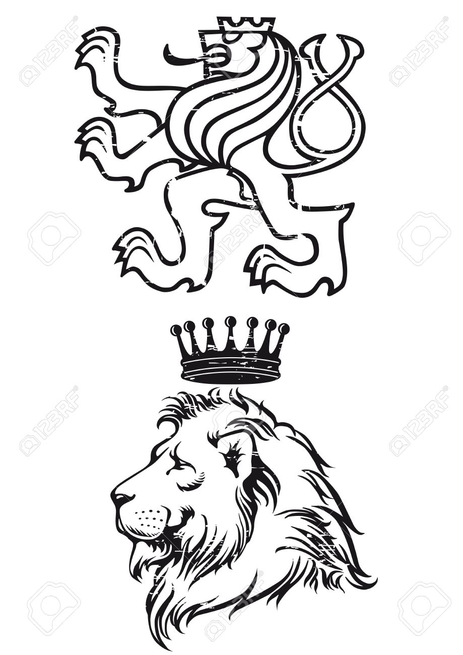 lion coat of arms royalty free cliparts vectors and stock rh 123rf com medieval coat of arms vector coat of arms vector art