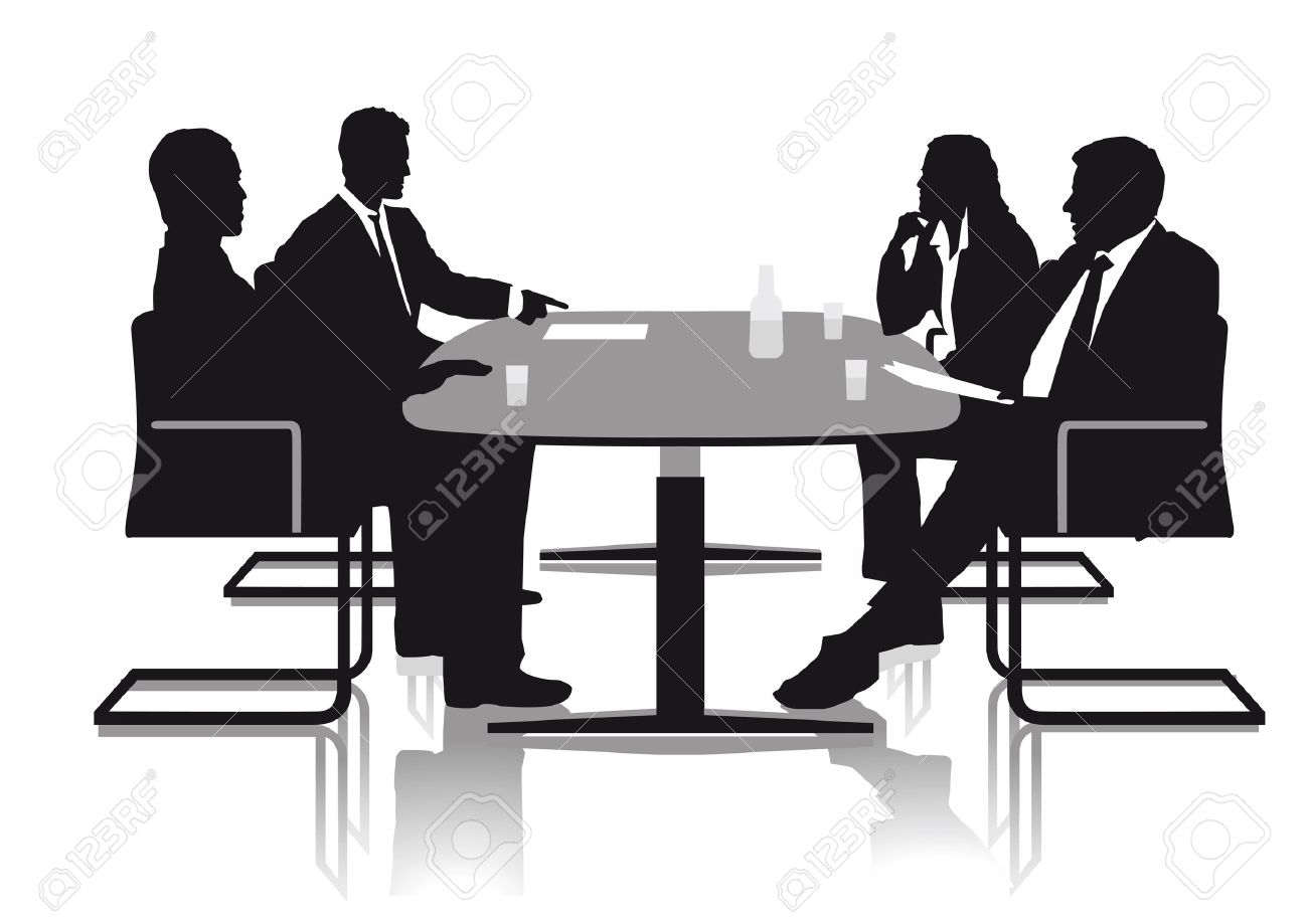 Conversations in the office Stock Vector - 20553781