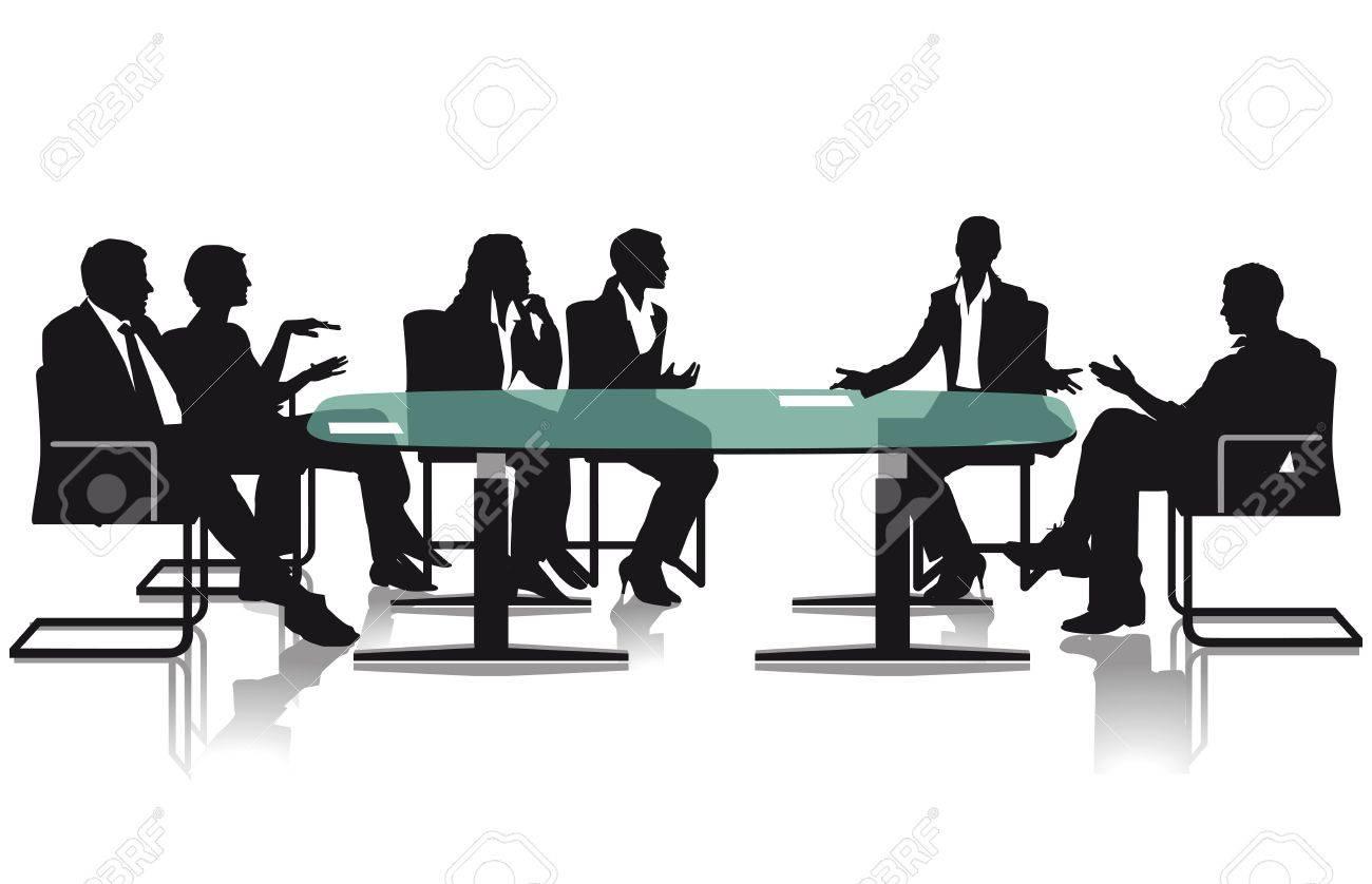 会議や討論 ロイヤリティフリー...