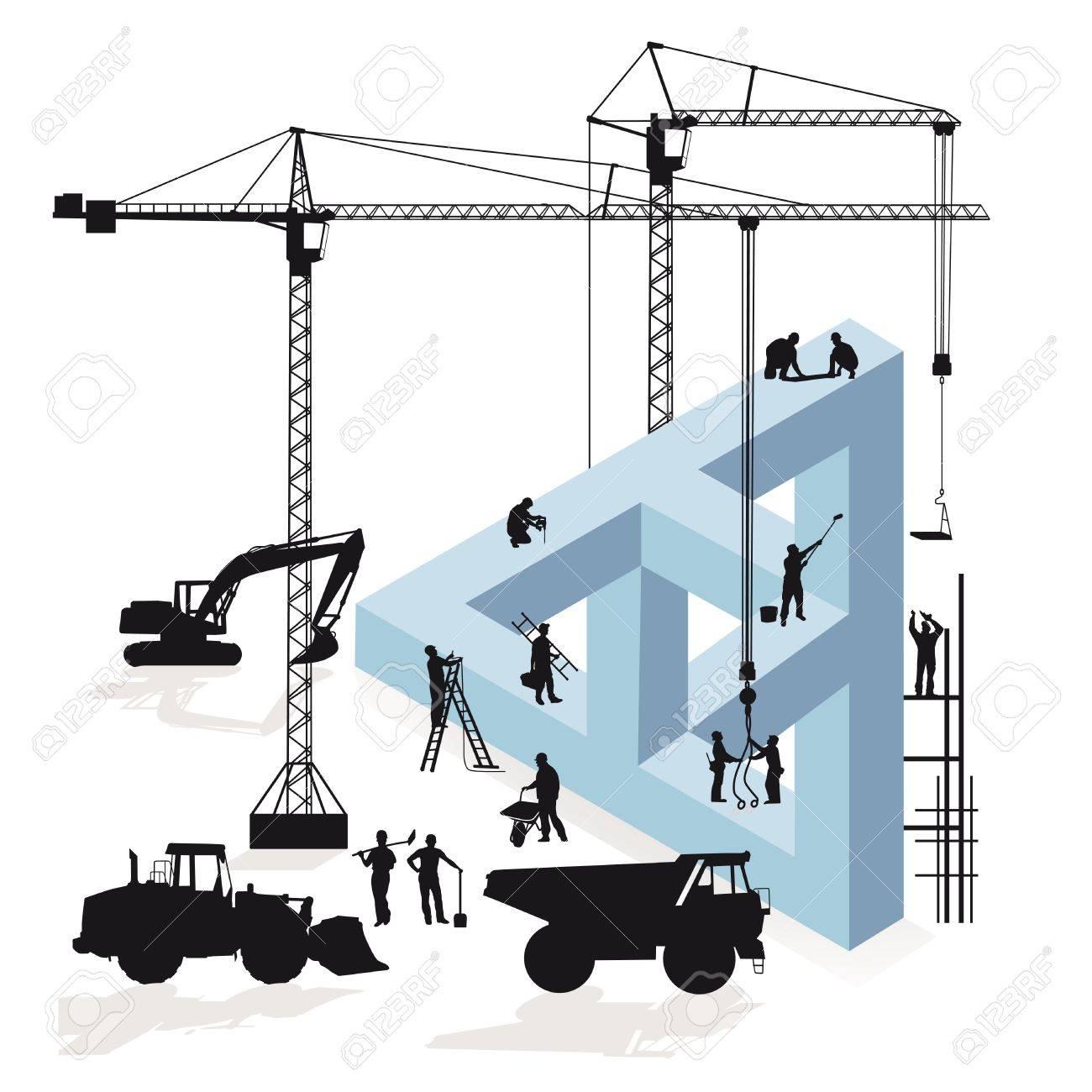 Magination Construction Stock Vector - 22176151