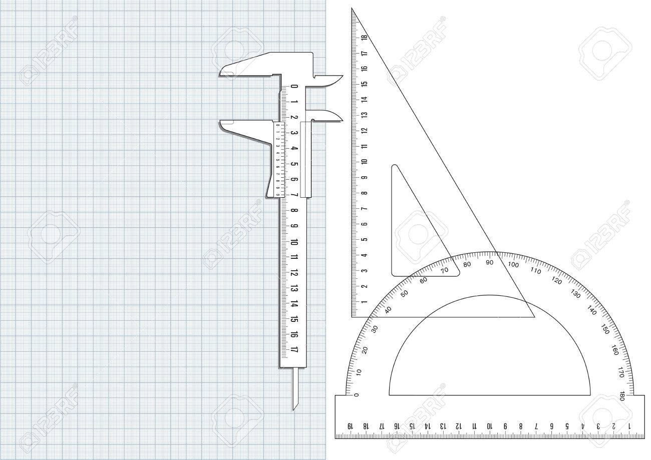 graph paper and ruler royalty free cliparts vectors and stock