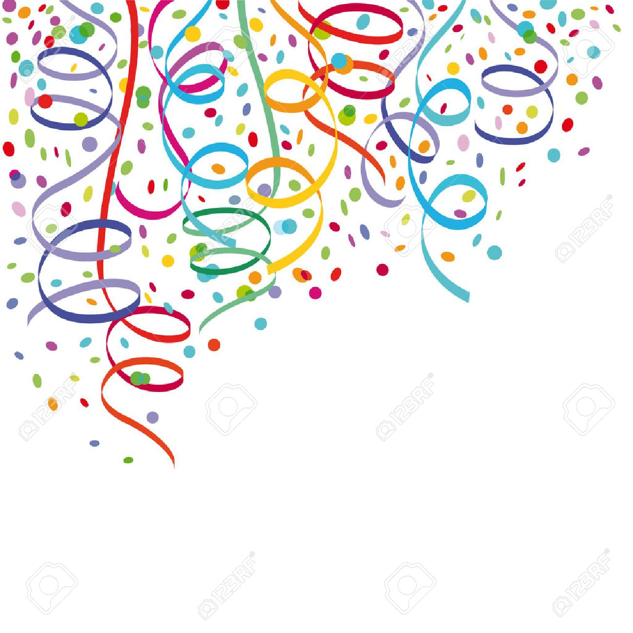 Confetti and streamers - 25417754