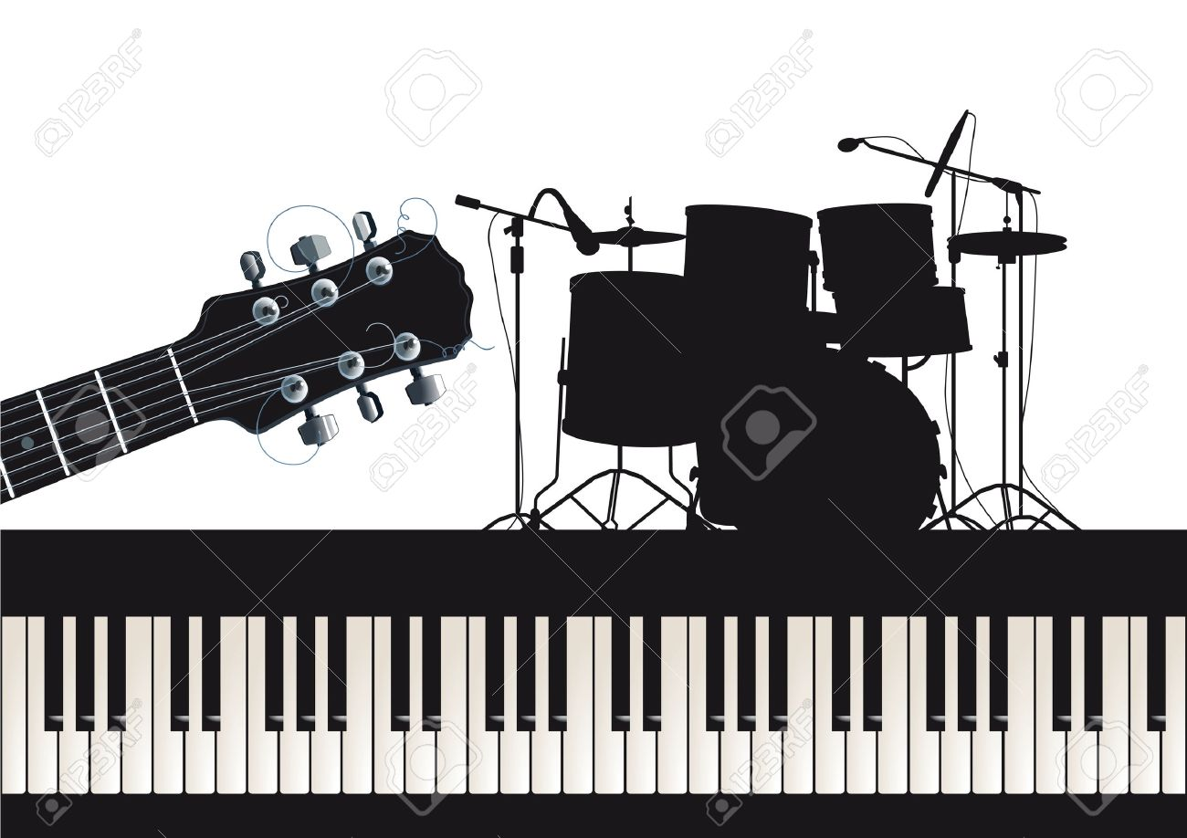 Guitar, piano and drums