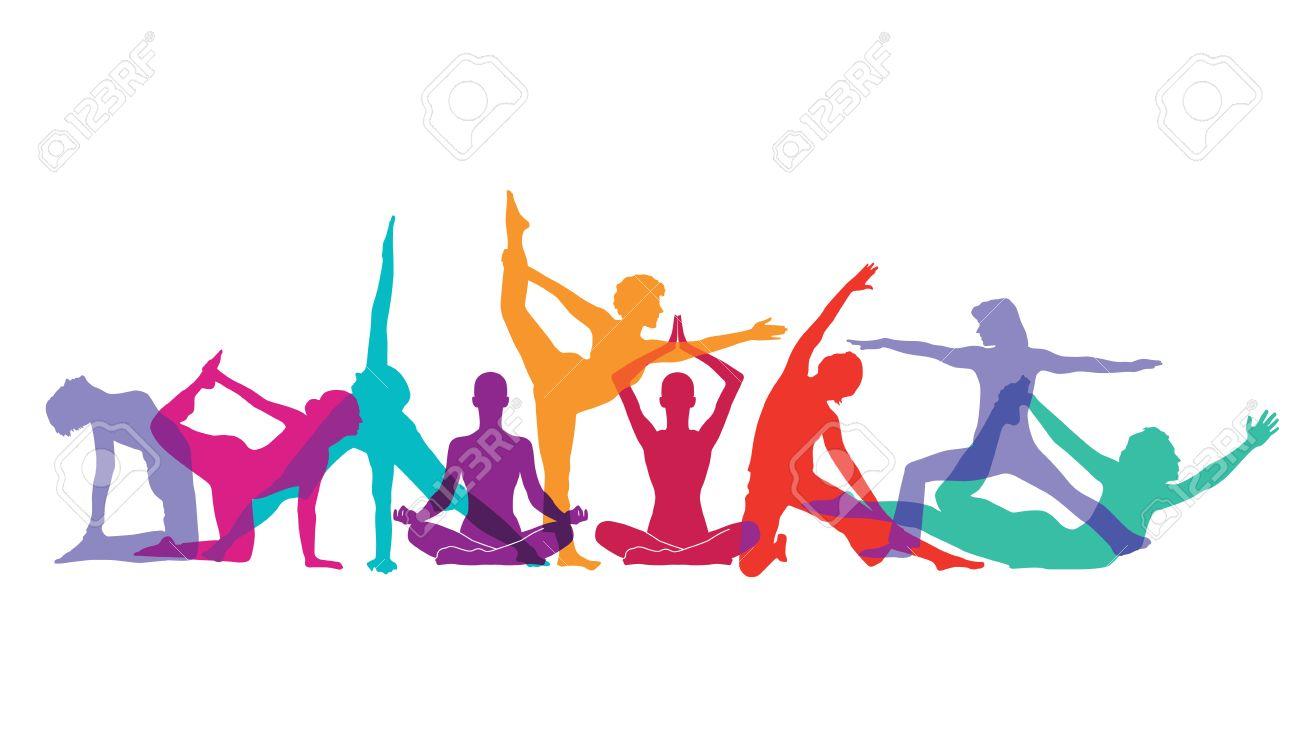 Yoga and gymnastics poses Stock Vector - 49968519
