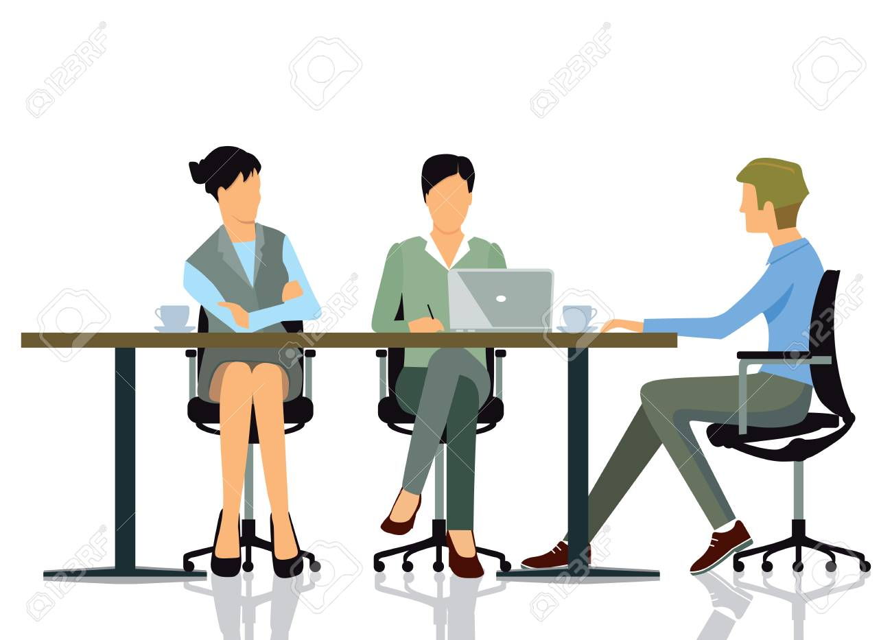 Meeting At The Office Royalty Free Cliparts Vectors And Stock Illustration Image 57039202