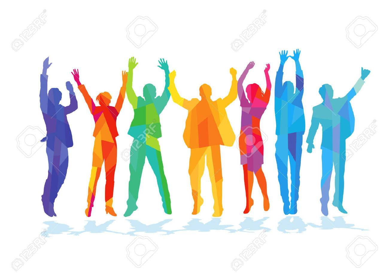 Colors Joyful jubilant people - 60181995