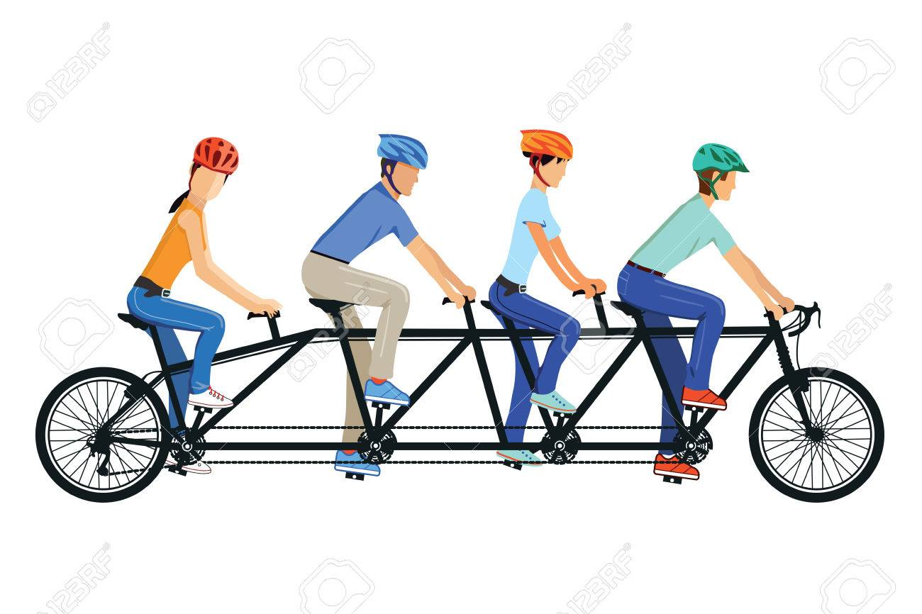 cycling tandem bicycle royalty free cliparts vectors and stock rh 123rf com  vintage tandem bike clipart