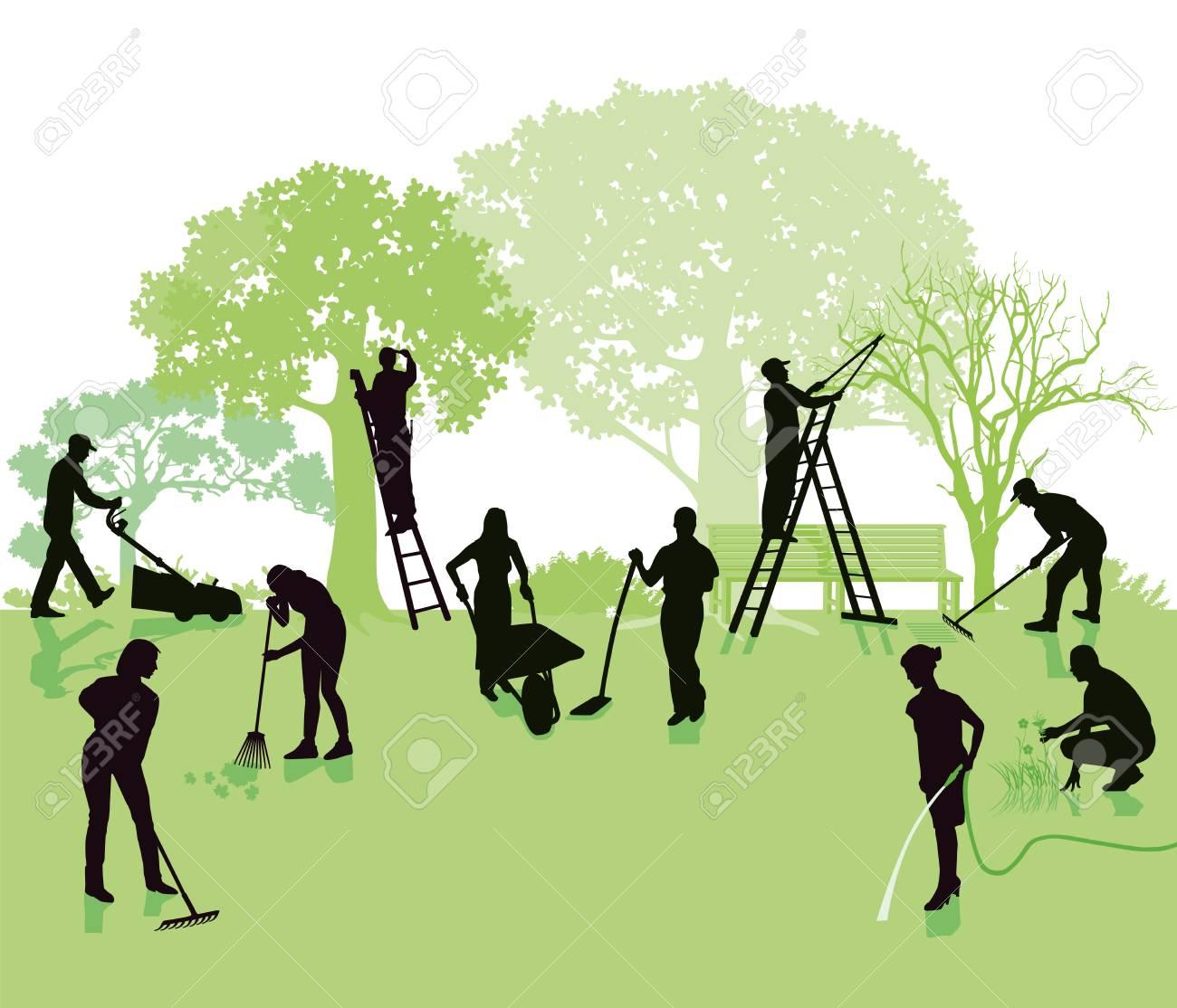 Gardening, garden with gardeners - 88856332