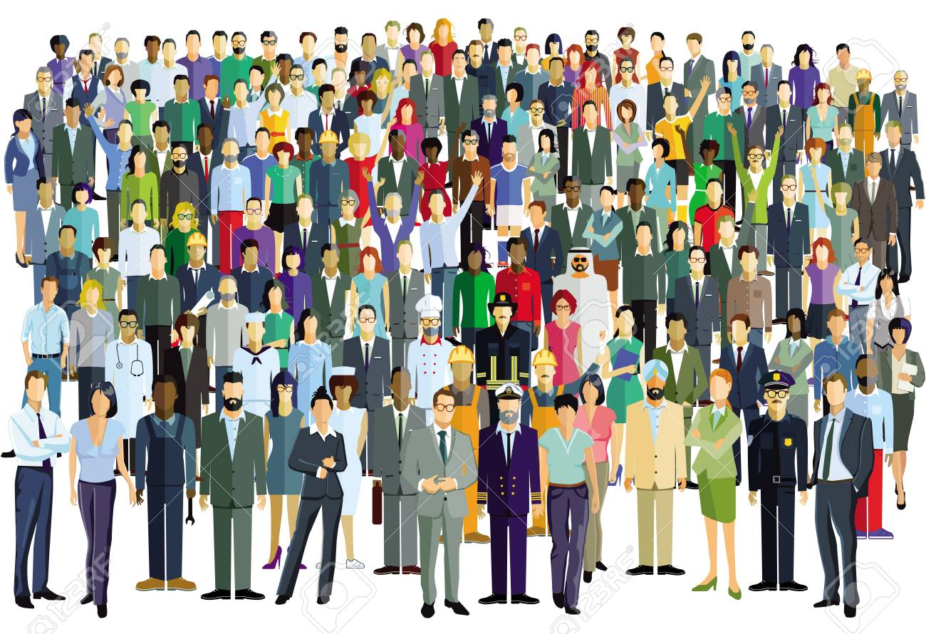 large group of people - 125233026