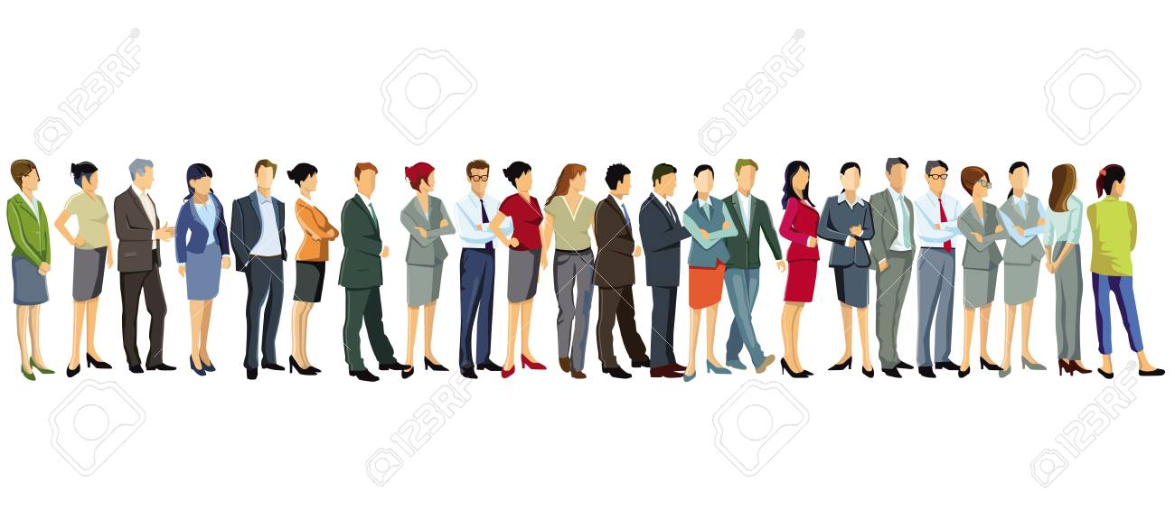 a group of business people are standing together - 125233029