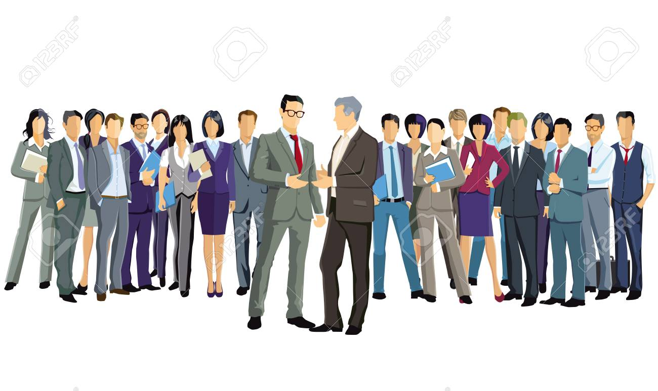 A group of business people are standing together - 125504874