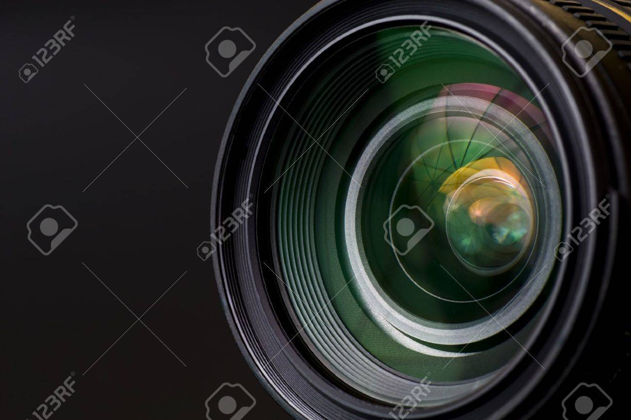 objective with lense reflections. Shot in studio. Stock Photo - 10450066