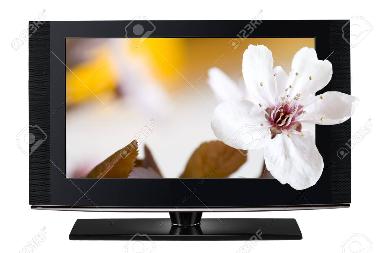 LCD TV panels. Television 3D production technology concept. Stock Photo - 10490615