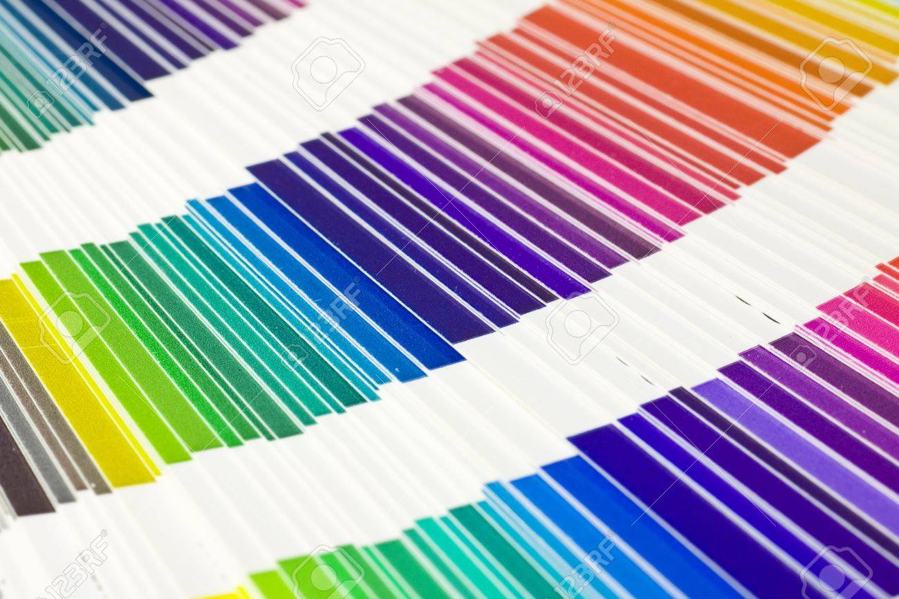 open Pantone sample colors catalogue Stock Photo - 10804568