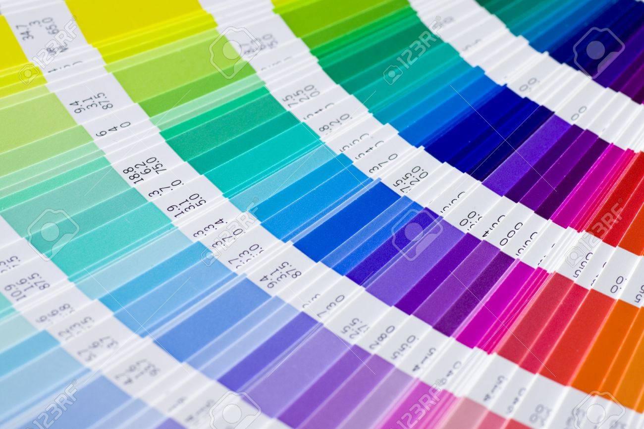 Abre La Muestra Colores Pantone Catálogo Fotos, Retratos, Imágenes Y ...