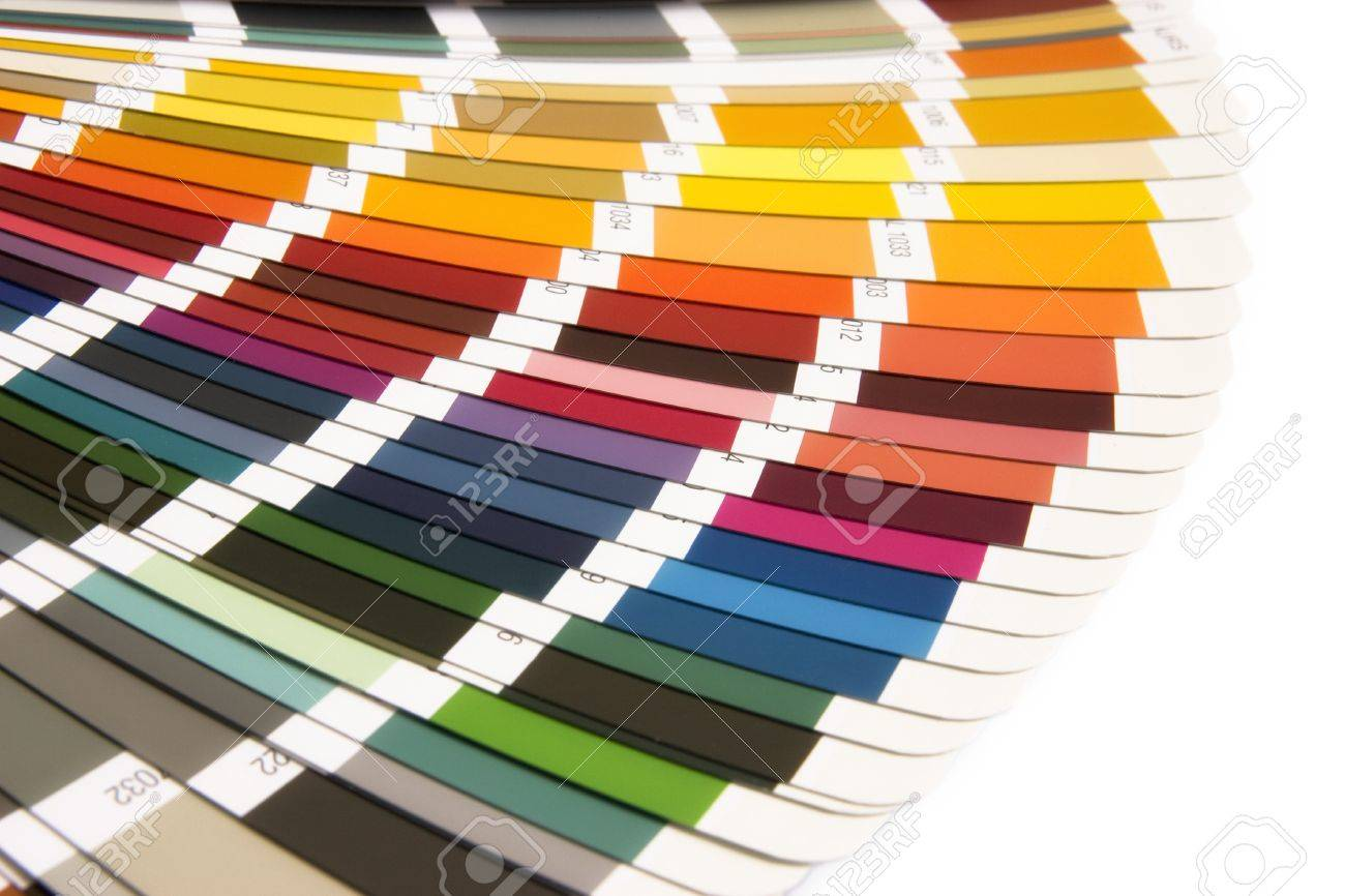 open RAL sample colors catalogue Stock Photo - 12054752