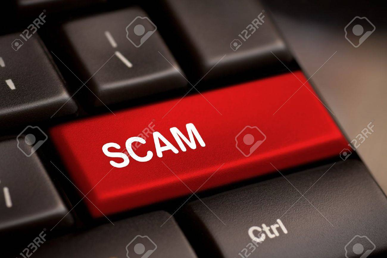 Scam Computer Keys Showing Swindles And Fraud Stock Photo - 15056961