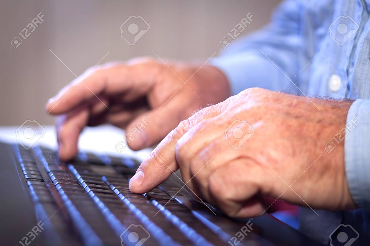 Office job  Businessman typing on a Computer Keyboard Stock Photo - 15056977