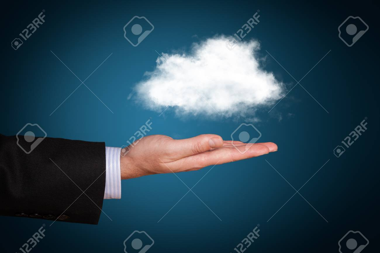 Cloud computing concept with copy space Stock Photo - 17613372