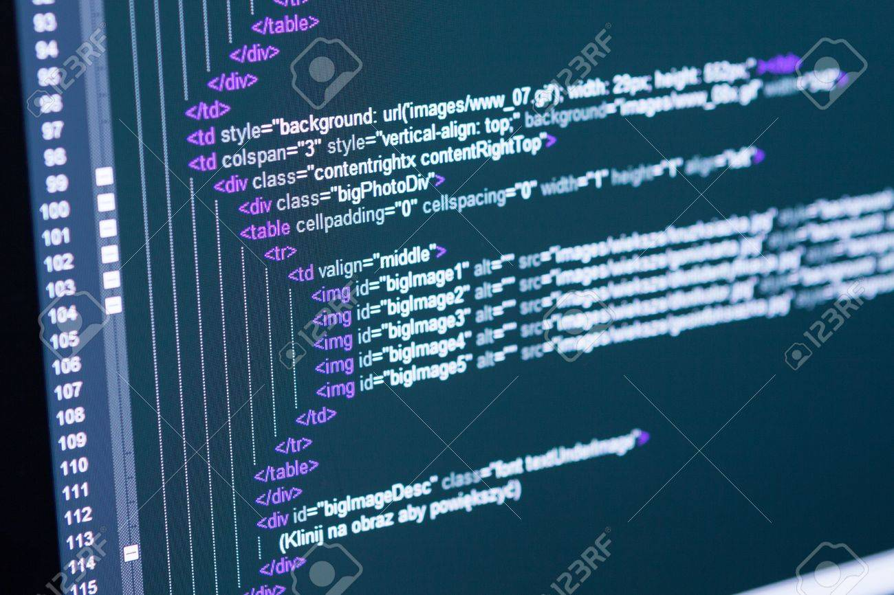 Program code on a monitor Stock Photo - 18693132