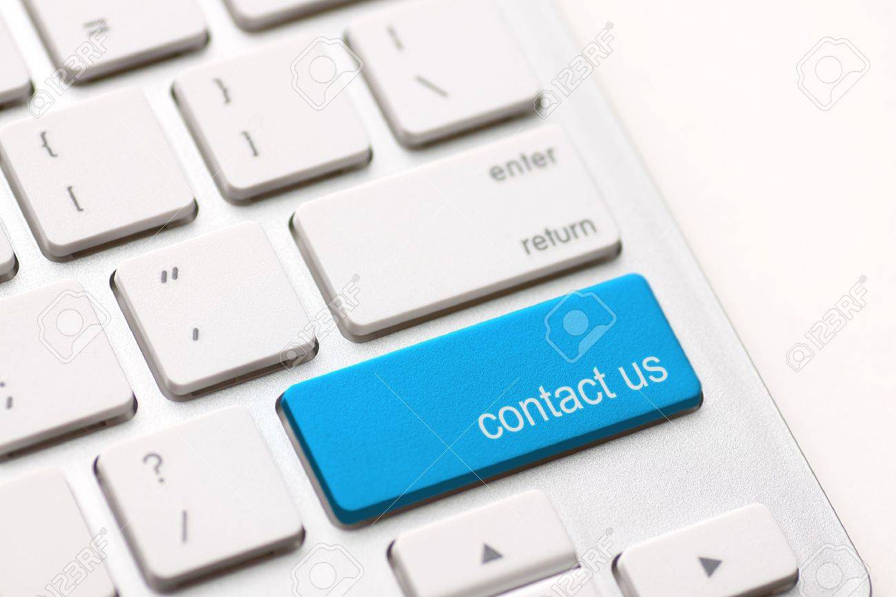 white keyboard with contact us key Stock Photo - 20416953