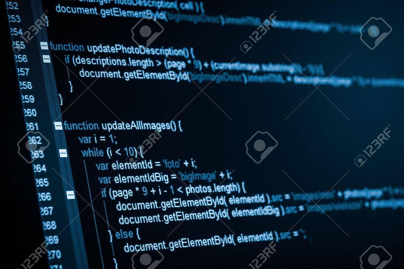 Program code on a monitor Stock Photo - 20416904