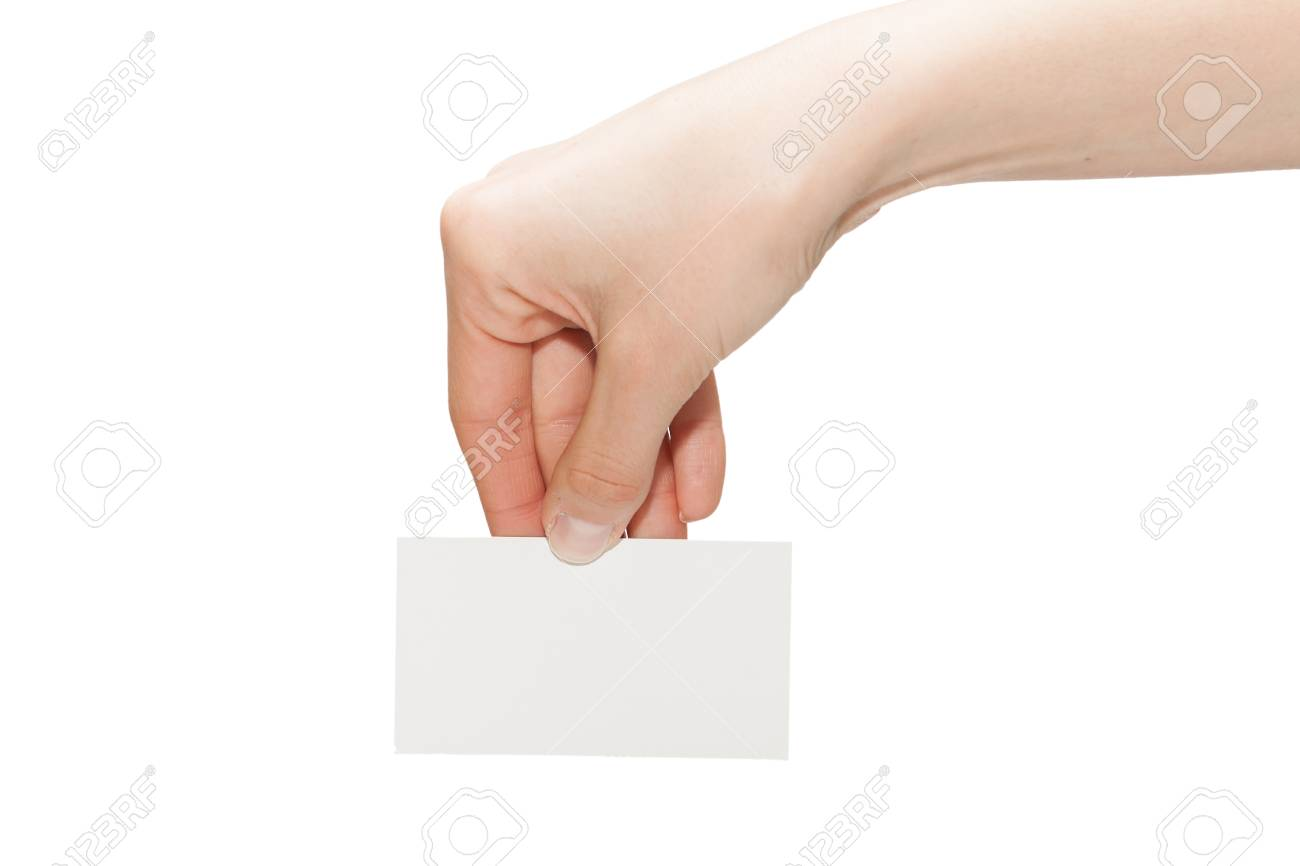 Hand hold blank business card stock photo picture and royalty free hand hold blank business card stock photo 21659065 reheart Gallery