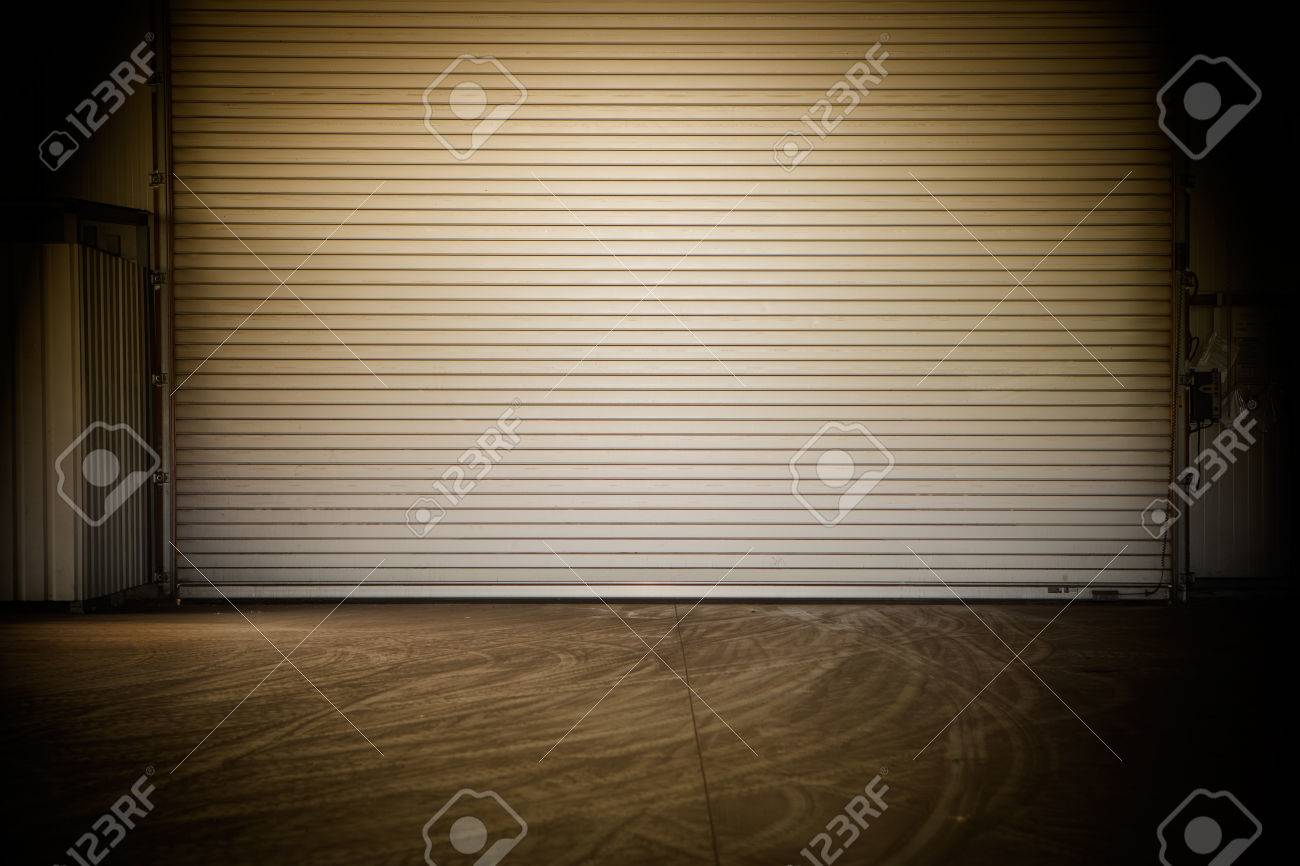Building made of concrete with roller shutter door Stock Photo - 22268415