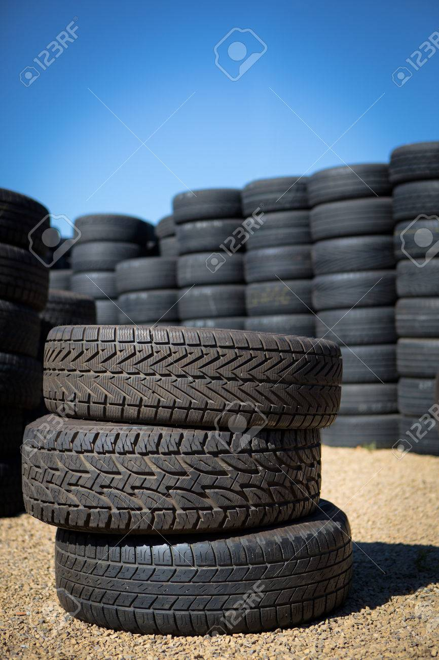 Stack of new tires for sale at a tire store Stock Photo - 22268418