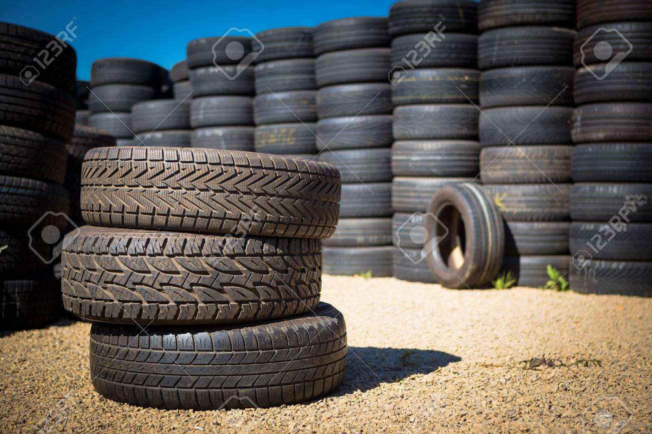 Stack of new tires for sale at a tire store Stock Photo - 22268419