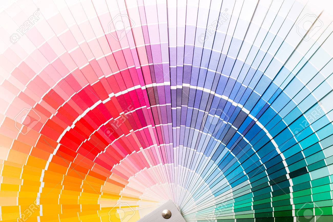Colour Swatches Book Rainbow Sample Colors Catalogue Stock Photo ...