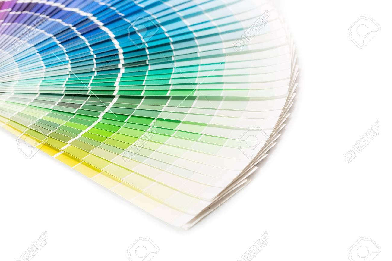 pantone color palette guide colour swatches book rainbow sample colors catalogue stock photo - Pantone Color Swatch Book