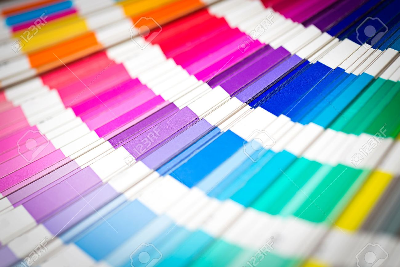 colour swatches book rainbow pantone sample colors catalogue stock photo 29969999 - Color Swatch Book
