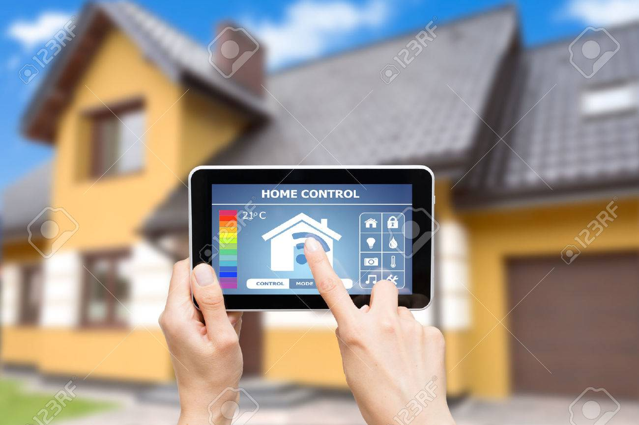 Remote Home Control System On A Digital Tablet Or Phone Stock With Control  Home With Phone